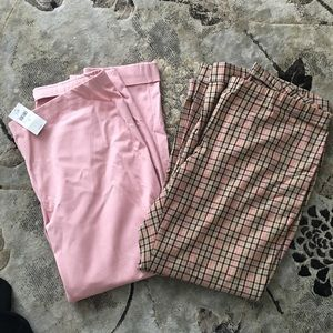 NWT J Jill pants size 16. Pink and Plaid.